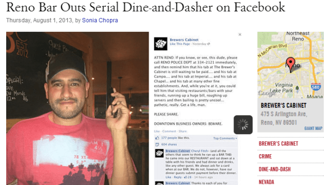 serial dine-and-dasher